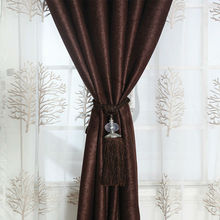 Elegant new design polyester solid color arabic room curtains fabrics for home