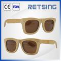 gafas de sol de marco de bambú