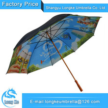 Wooden Double Layers Golf Umbrella