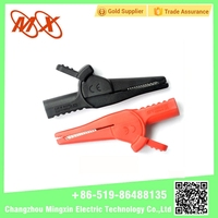 Lovely Style mini stainless steel/crocodile Alligator Battery Clips with Boots