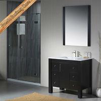 Modern free standing 18mm modern mdf bathroom cabinet