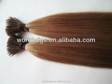 top quality factory price natural color brazilian remy virgin human hair 5A,6A,7A pre bonded i tip hair extension