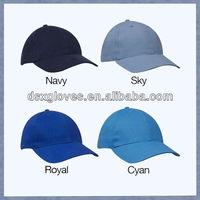 6 panel plain royal navy baseball caps