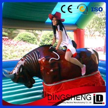 amusement park games factory mechanical bullfight inflatable bull riding machine Buyers