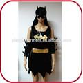 Hallloween murciélago negro hombre traje del partido del traje para el adulto PGFC-2450