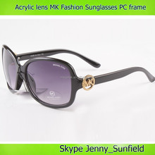 Color changing acrylic lens pc frame mk fashionable sunglasses