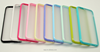 Factory wholesale candy colors frosted transparent case for iPhone6 4.7 inch TPU + PC Silicone Case for Apple iphone6