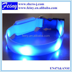 EN1150 high visibility wholesale led dog collar dog reflective