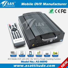 8CH H.264 Hard Disk HDD GPS 3G 4G Wi-Fi Mobile DVR Vehicle DVR with Passenger Counter