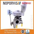 Kkk turbo k03 5303-970-0048 para renault peças auto motor turbocompressor com certificado iso