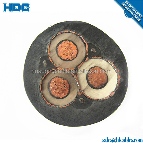 MV rubber insulated cable SHD Cable