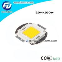 Good price 20w 30w 50w 70w 100w Epistar Integrater high power Led chip 630nm 100w red led