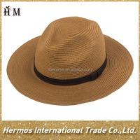 Unisex hand woven panama straw hat plain straw sun panama hat for summer headwear