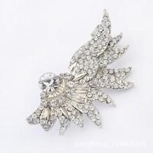 Angel wings luxury silver earrings studded with diamonds