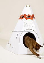Cardboard Cat Play House/ Factory Direct Cat Play House for pet suppliers