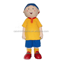 fur Caillou Cinar mascot costume/ plush fabric Caillou Cinar mascot