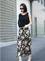 Venta al por mayor 2015 nueva llegada de moda mujeres y para mujer jersey larga demi chifffon faldas