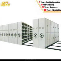 mechanical compact movable shelving/heavy duty manual operated moveable storage rack/mobile custom sliding mass compact shelves