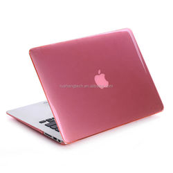 Hard case for macbook air a1465,for macbook soft rubber case,hot pink case for macbook