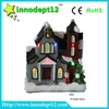 "6""Christmas decoration paper mache house with led light, led Christmas craft supplies"