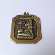 gold color metal labels engrave concave logo metal tag bag metal logo