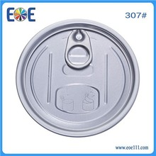 83mm aluminum easy open end 307 dry food easy open can lid