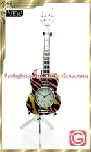 High grade zinc alloy Guitar design table clock