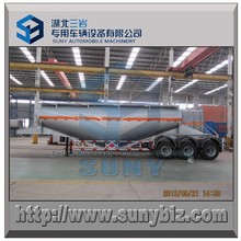 3 axle Dry Bulk Tank semi trailer 35000 Liters cement tanker trailer exported to Singapore