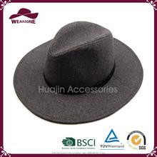 2015 European Style Wide Brim Wool Felt Fedora Made In China