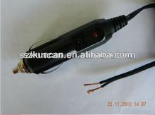 car cigarette lighter adapter with USB plug connector cigar cable