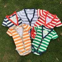 2015 new bubble stripe romper baby boys romper cotton baby romper 1.Size: 4-6M, 7-9M,10-12M,