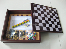 high quality mikado chess checkers backgammon 5 in 1 wooden game set