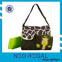 2015 designer animal print Diaper bag for baby