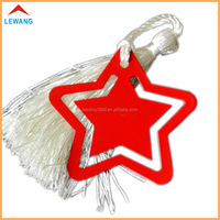 China suppliers custom five-pointed star shape red metal bookmarks