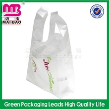different sizes tshirt plastic grocery bags with handle