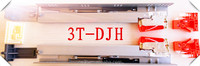 3T--DJH--soft close plastic drawer rail,ball bearing drawer slide rail