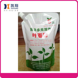Printed Doypack with spout for packing organic fertilizer