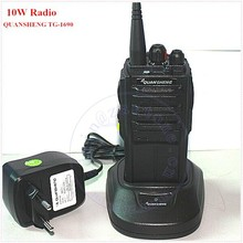 10W military radios for sale QUANSHENG TG-1690 UHF400-470MHz Walkie Talkie with 4000mAh battery