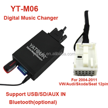 yatour Vw 8 &12pin car audio mp3 cd player adapter