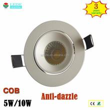 2015 new design China factory supply 10w anti-glare round led downlight