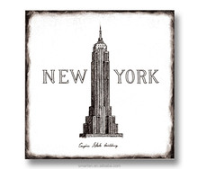 Wood Decorative Wall Plaques Empire State Building
