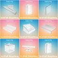 venta al por mayor cubo transparente de acrílico del slatwall pantalla caso