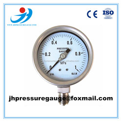 60mm stainless steel case and bourdon tube bottom connection pressure gauge