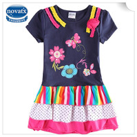(H6346Y) 2015 2-6y NEW fashion girl dresses nova baby clothes short sleeves dresses high quality cheap child summer frocks