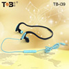 2015 Hot brand high-performance cheap colorful stereo necklace earphones with mic for sport
