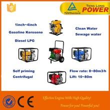Super Portable gasoline diesel kerosene lpg water pump for irrigation