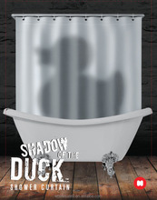 waterproof polyster shower curtain with duck shadow /bath curtain