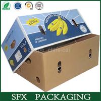 free sample 5-ply banana carton box,paper carton,shipping carton box
