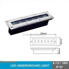 liner underground recessed inground light long shape 6w 12w 18w