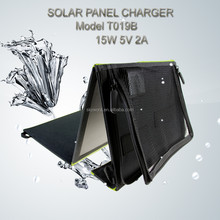 YUNDU Outdoor CE/FC/RoHS certification 15 W 5 V flexible solar phone charger for mobile phone/Ipad/power bank etc